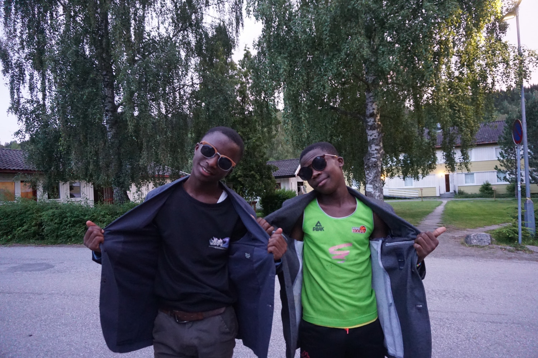 Mukamba og Daniel cool